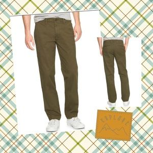 Gap Lived-In Straight Olive chino, 34x36